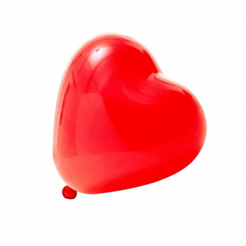 Globos Corazón Rojos 3 unidades