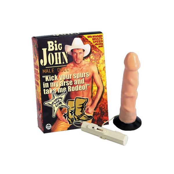 Muñeco Hinchable Big John con vibrador