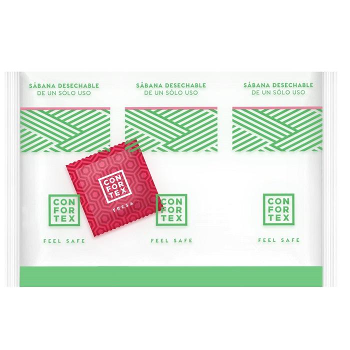 Caja de 150 Sábanas Higiénicas Desechables CONFORTEX 15 gr. c/Preservativo