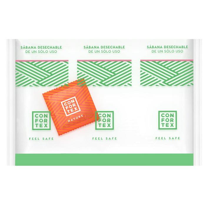 Caja de 150 Sábanas Higiénicas Desechables CONFORTEX 15 gr. c/Preservativo Natural