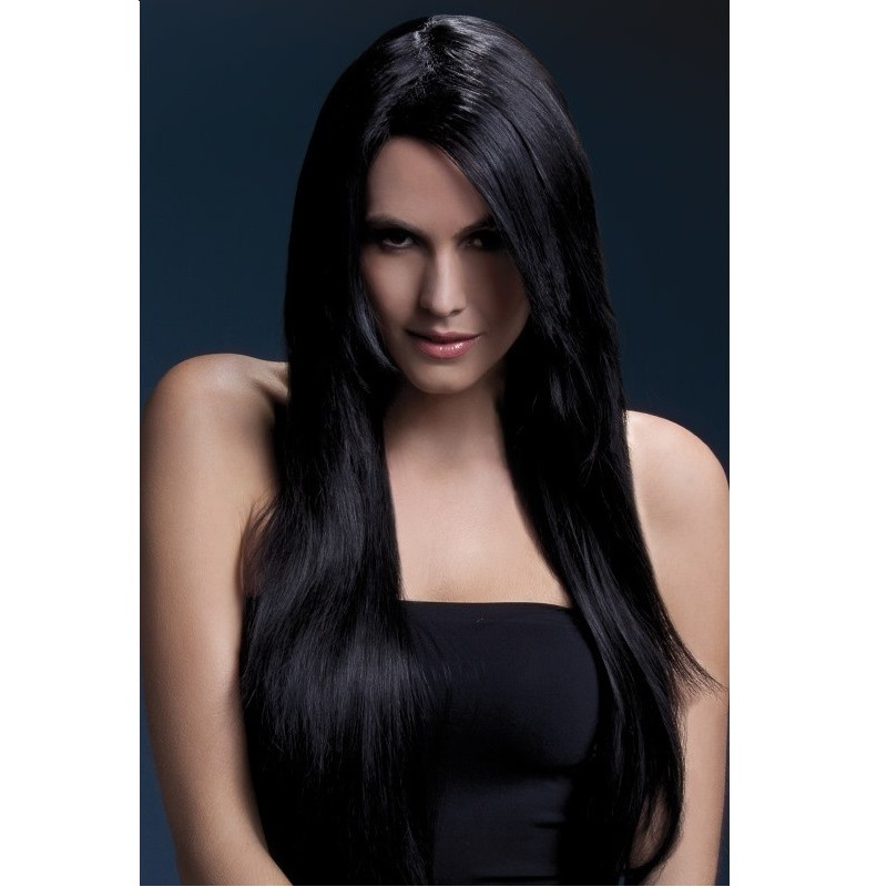 Peluca Amber Fever Negra 71 cm