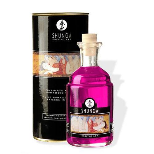 Aceite Afrodisíaco Besos Íntimos Menta Sensual De Shunga 100 ml