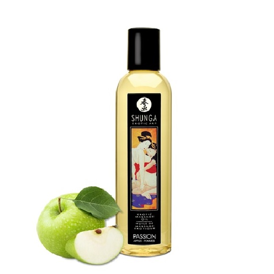 Aceite Erotic Massage Passion Manzana Shunga 250 ml
