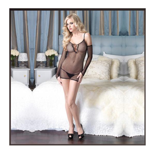 Mini Vestido De Leg Avenue Negro 86385