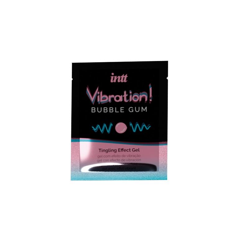 GEL EFECTO VIBRATION BUBBLE GUM INTT 5 ML