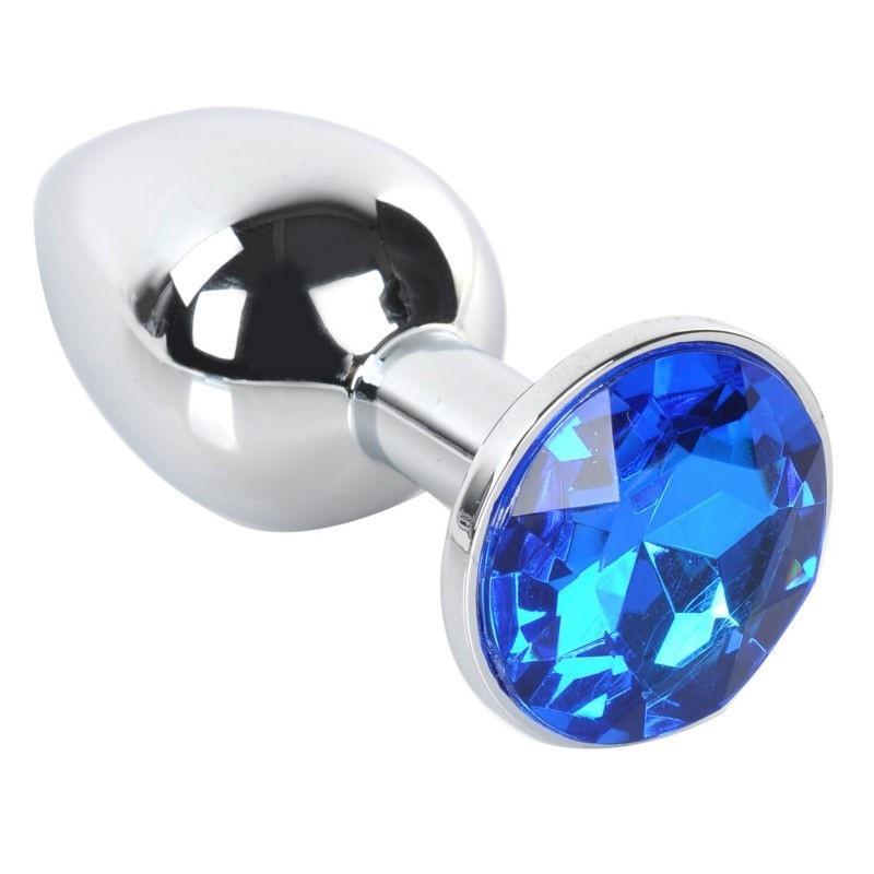 Plug Anal Metal Joya Azul Talla L
