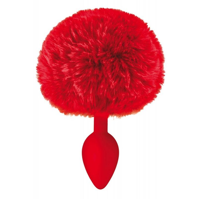 Plug Pompon Sweet Caress Rojo