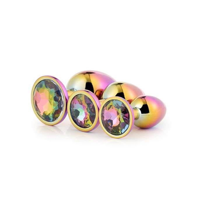 Kit 3 Plugs Gleaming Love Multicolor Dream Toys