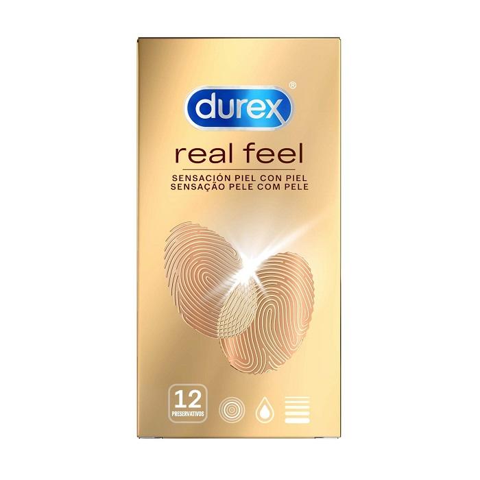 Caja 12 Preservativos Durex Real Feel
