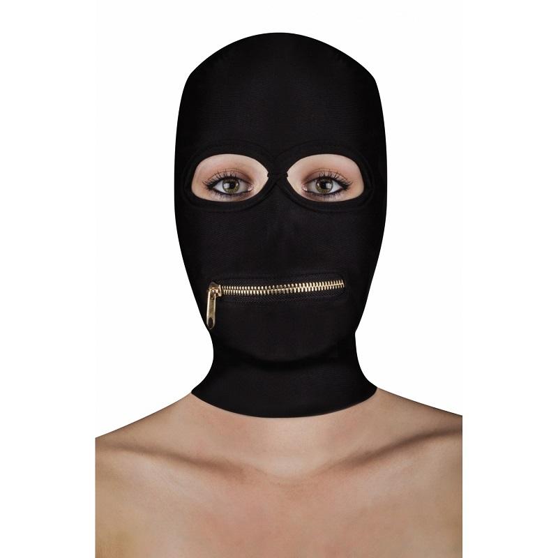 Capucha Sumisión Ouch Extreme Abertura Ojos Cremallera Boca Zipper Mask