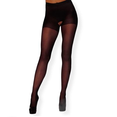 Panty Con Abertura Leg Avenue Negro 1905