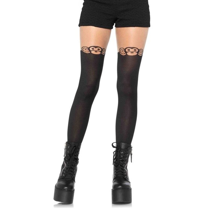 Panty De Fantasía Medias Con Monos Leg Avenue 7933