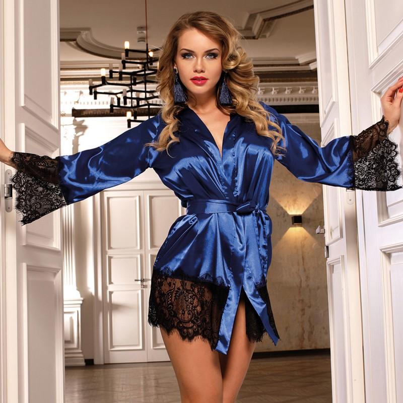 Bata Corta Silk Justice Azul Kimono