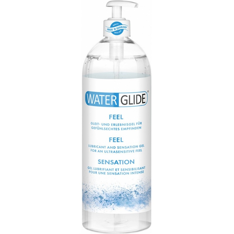Lubricante a Base de Agua Waterglide Natural Feel Con Dosificador 1000 ml