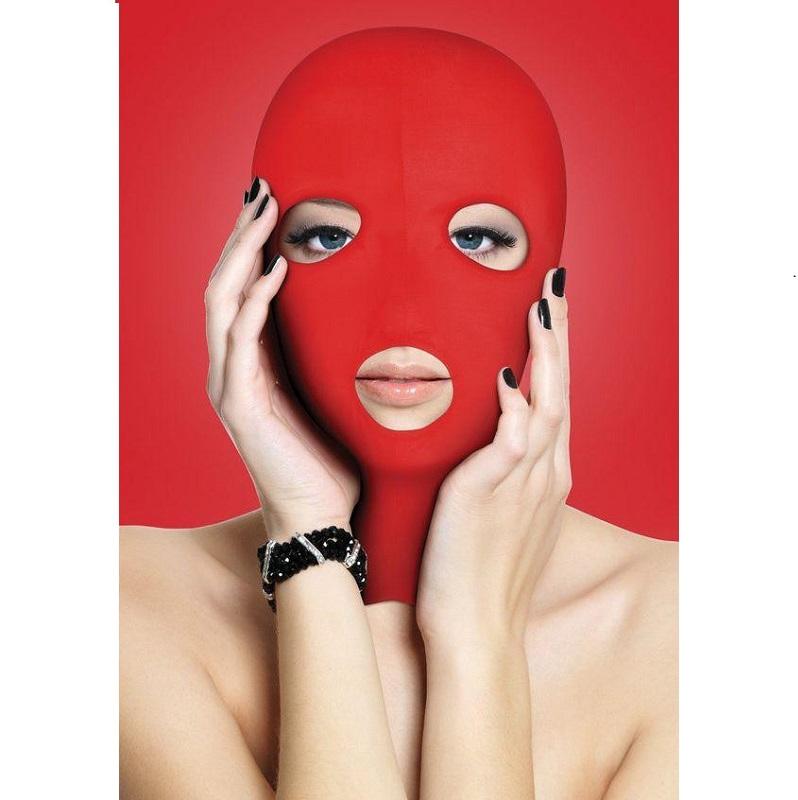 Capucha Sumisión Ouch Abertura Boca Y Ojos Subversion Mask Roja