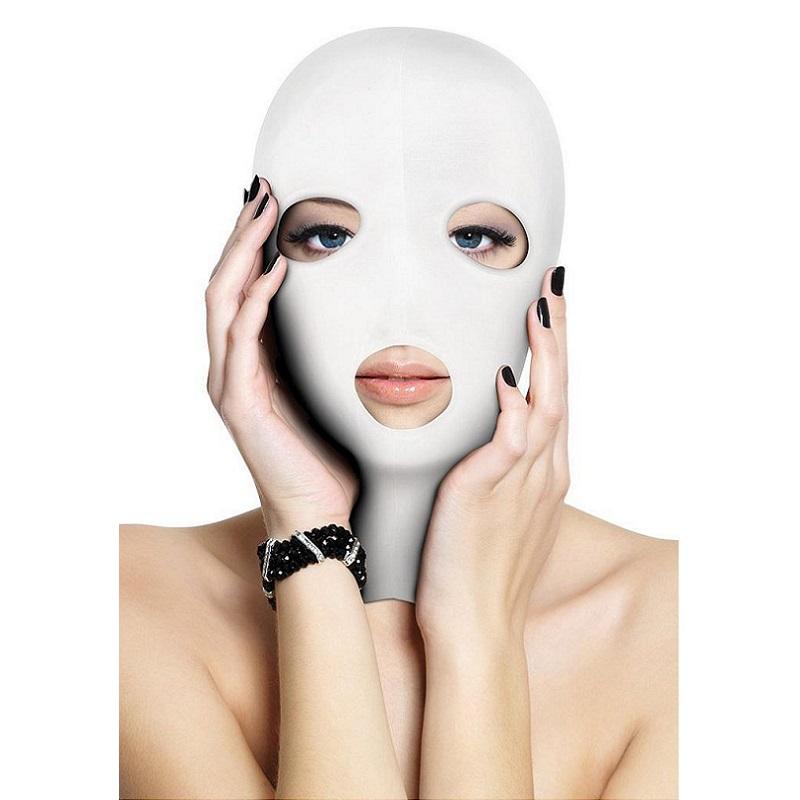 Capucha Sumisión Ouch Abertura Boca Y Ojos Subversion Mask Blanca