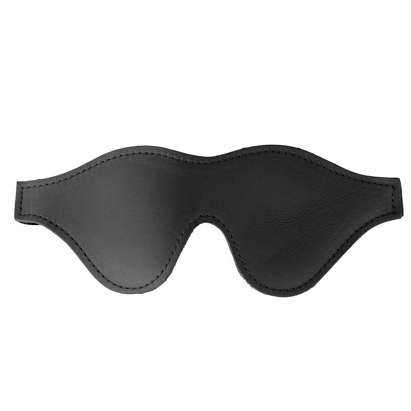 Antifaz Ciego Strict Black Fleece Lined Blindfold