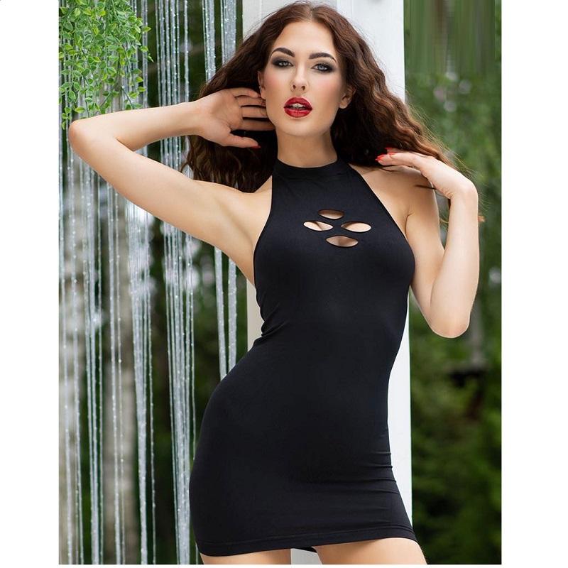 Mini Vestido Chilirose CR- 4434 Negro