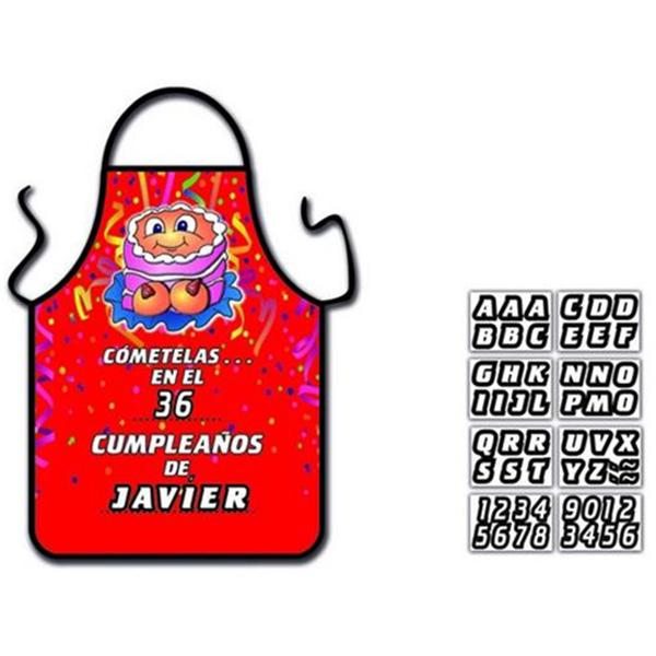 Delantal Tarta Tetas Personalizable
