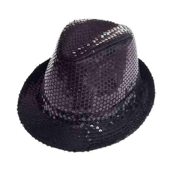 Sombrero Lentejuelas Negro