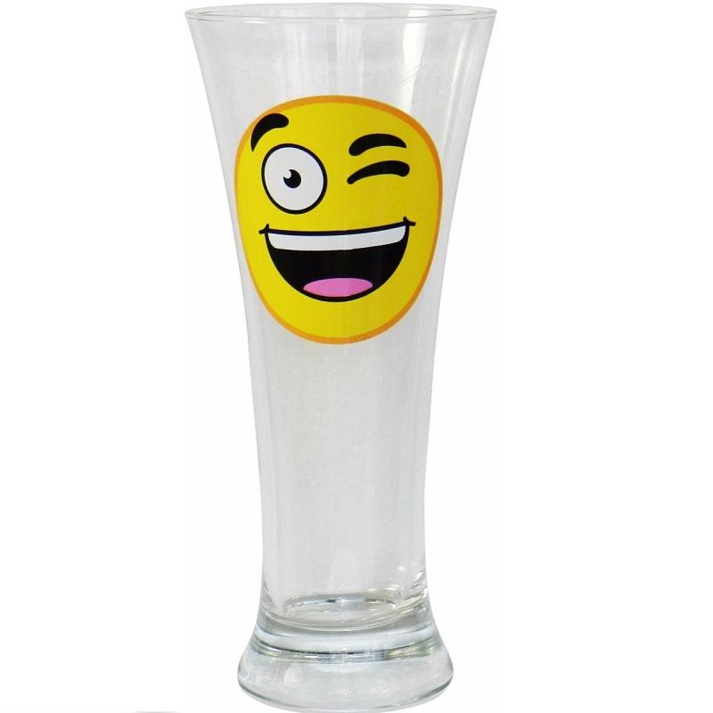 1 Vaso Cerveza Emoticono Guiño