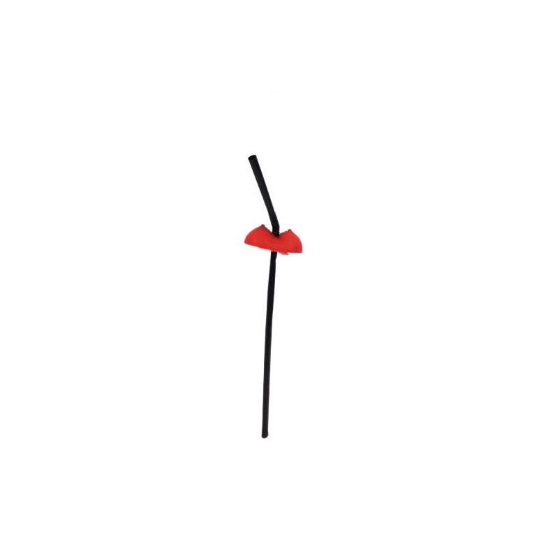 Pajitas Negras Pechos Rojos 10 unidades