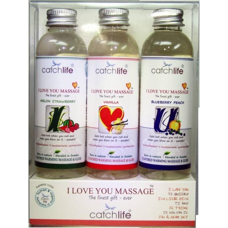 Catch Life Pack I Love You Batidos Massage 3 x 75 ml