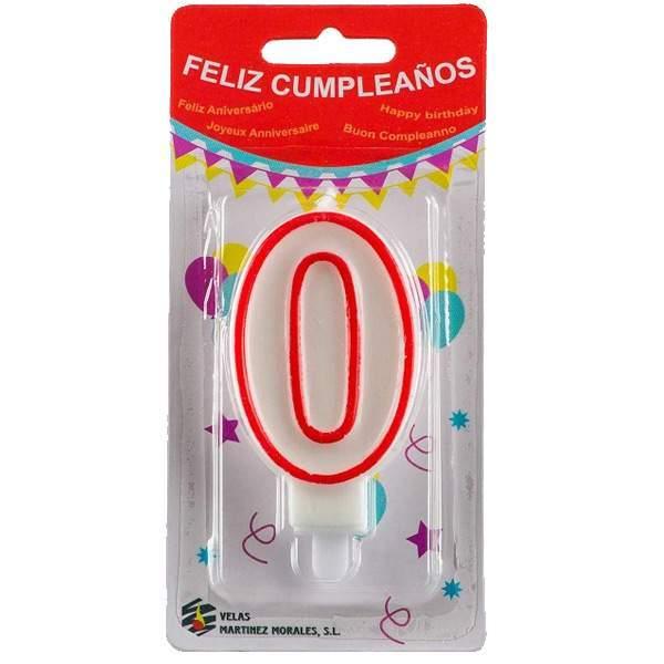 Vela Cumpleaños Número 0