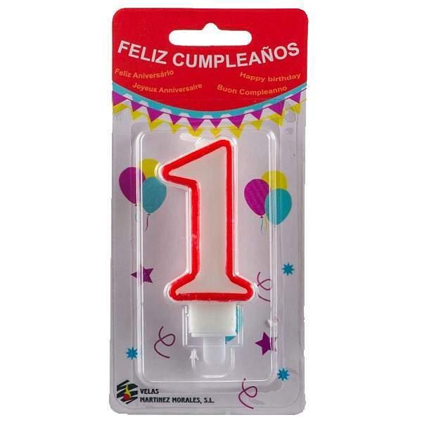 Vela Cumpleaños Número 1