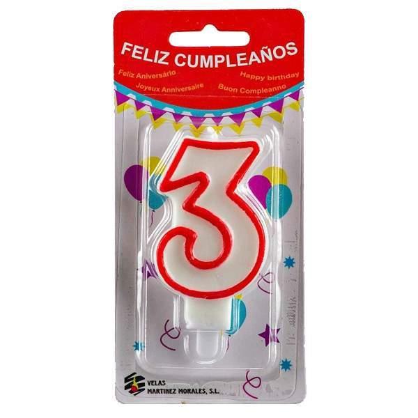 Vela Cumpleaños Número 3