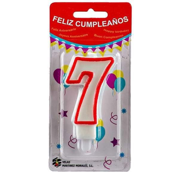 Vela Cumpleaños Número 7