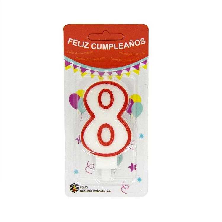 Vela Cumpleaños Número 8