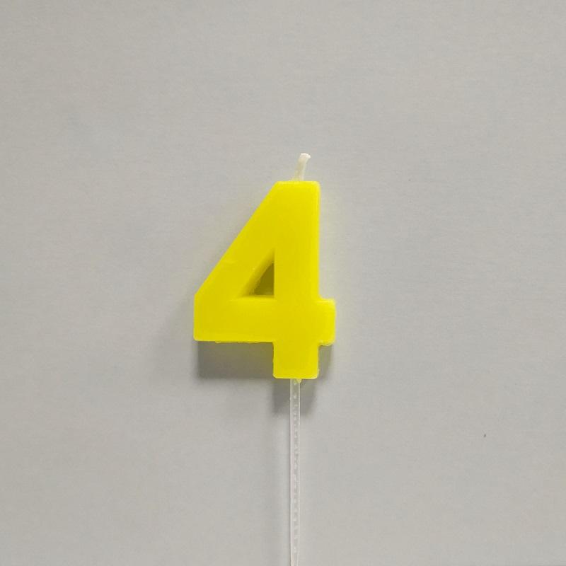Vela Color Número 4