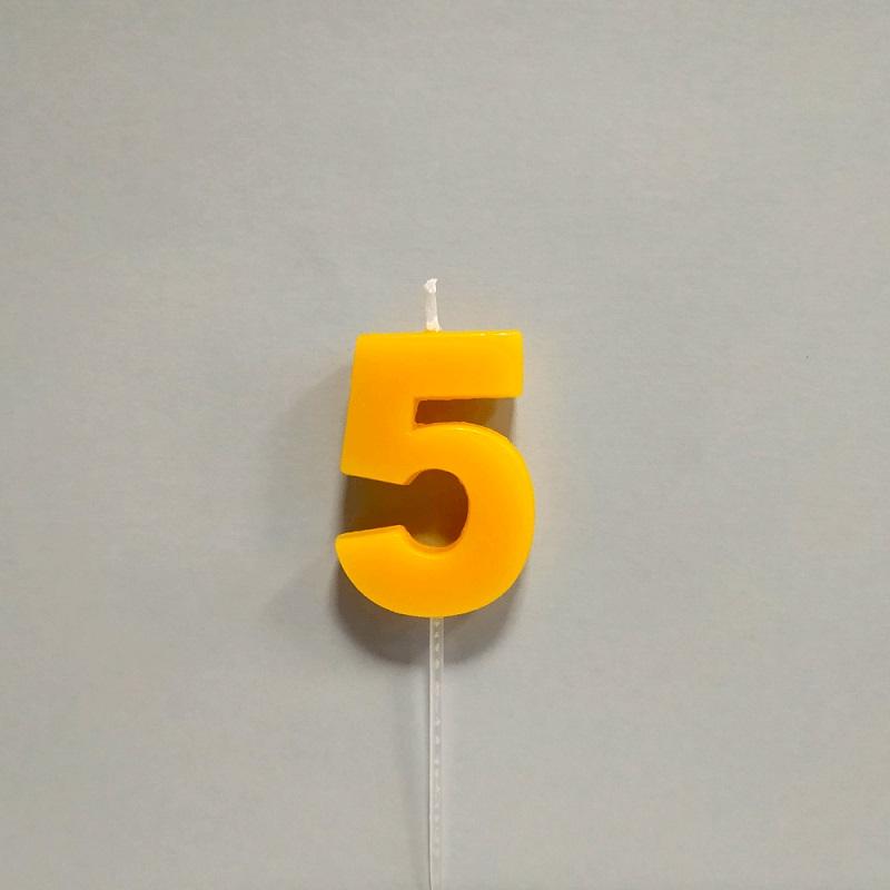 Vela Color Número 5