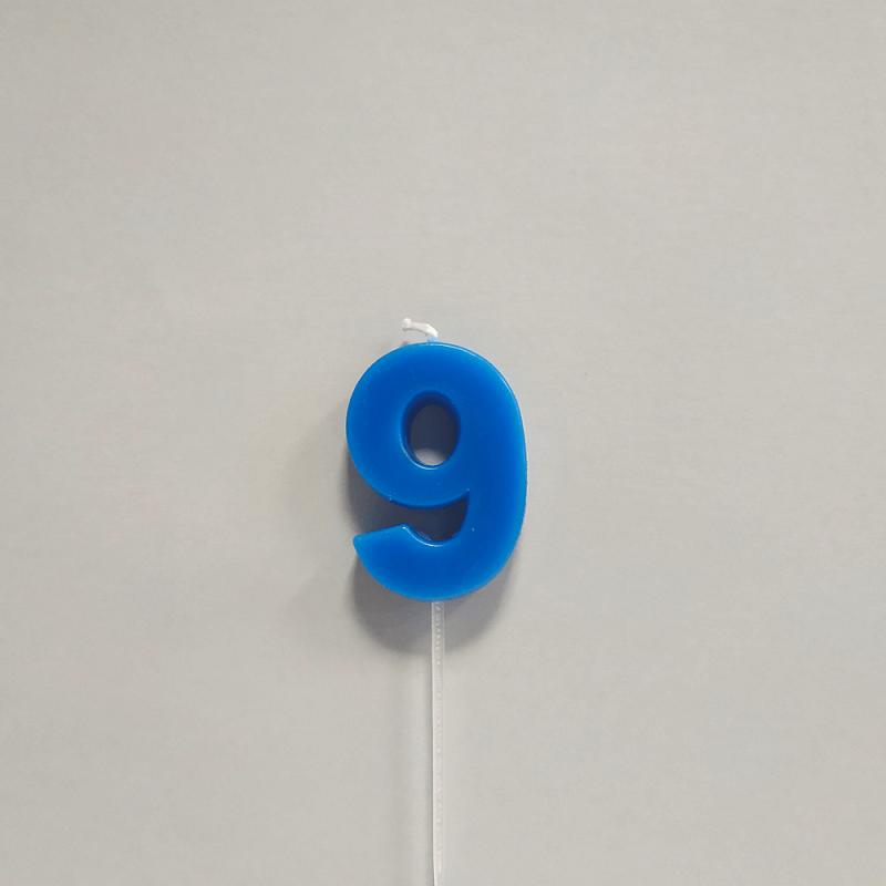 Vela Color Número 9
