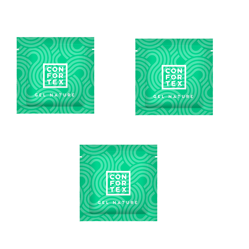 3 Sobres Lubricante Confortex 6 ml