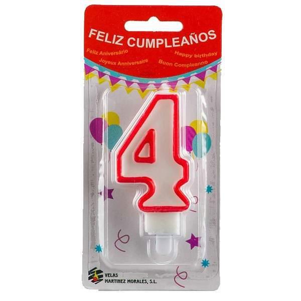 Vela Cumpleaños Número 4