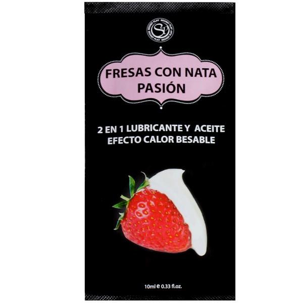 Monodosis Fresas Con Nata Pasion Secret Play  10 ml