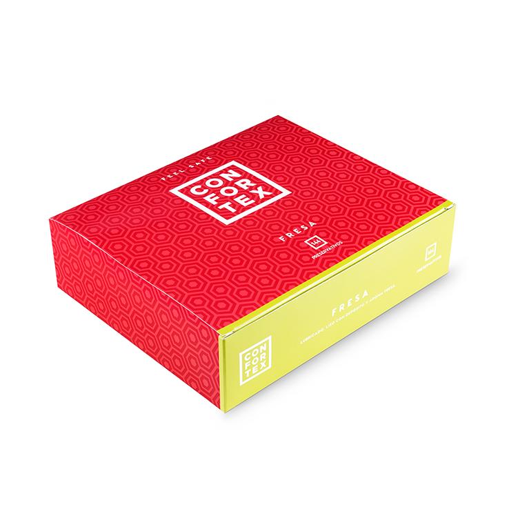 Caja 144 Preservativos Confortex Fresa
