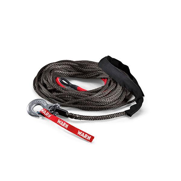 Cable sintético WARN SPYDURA 9,5 mm con gancho