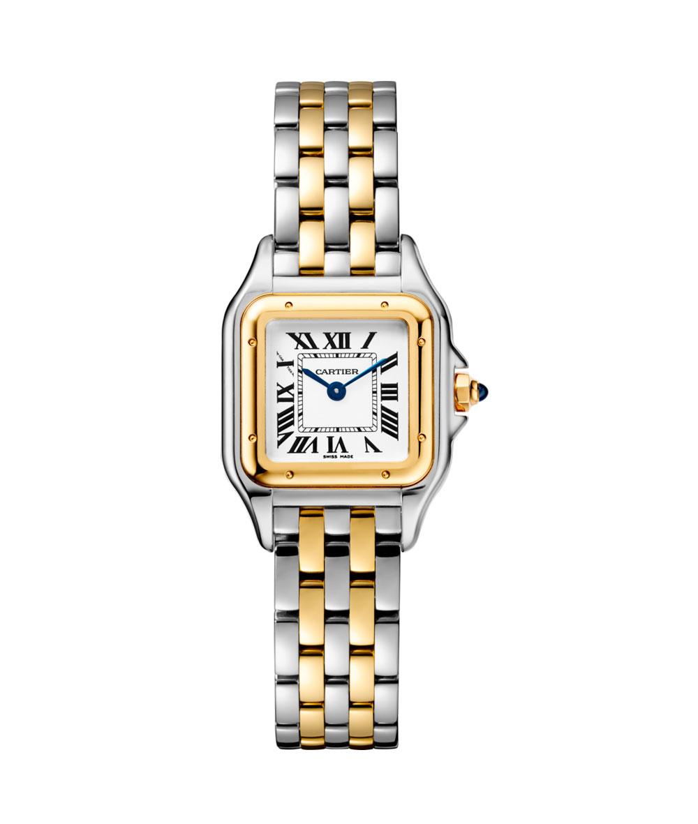 Panthère de Cartier, MM, Oro Amarillo y Acero #W2PN0007