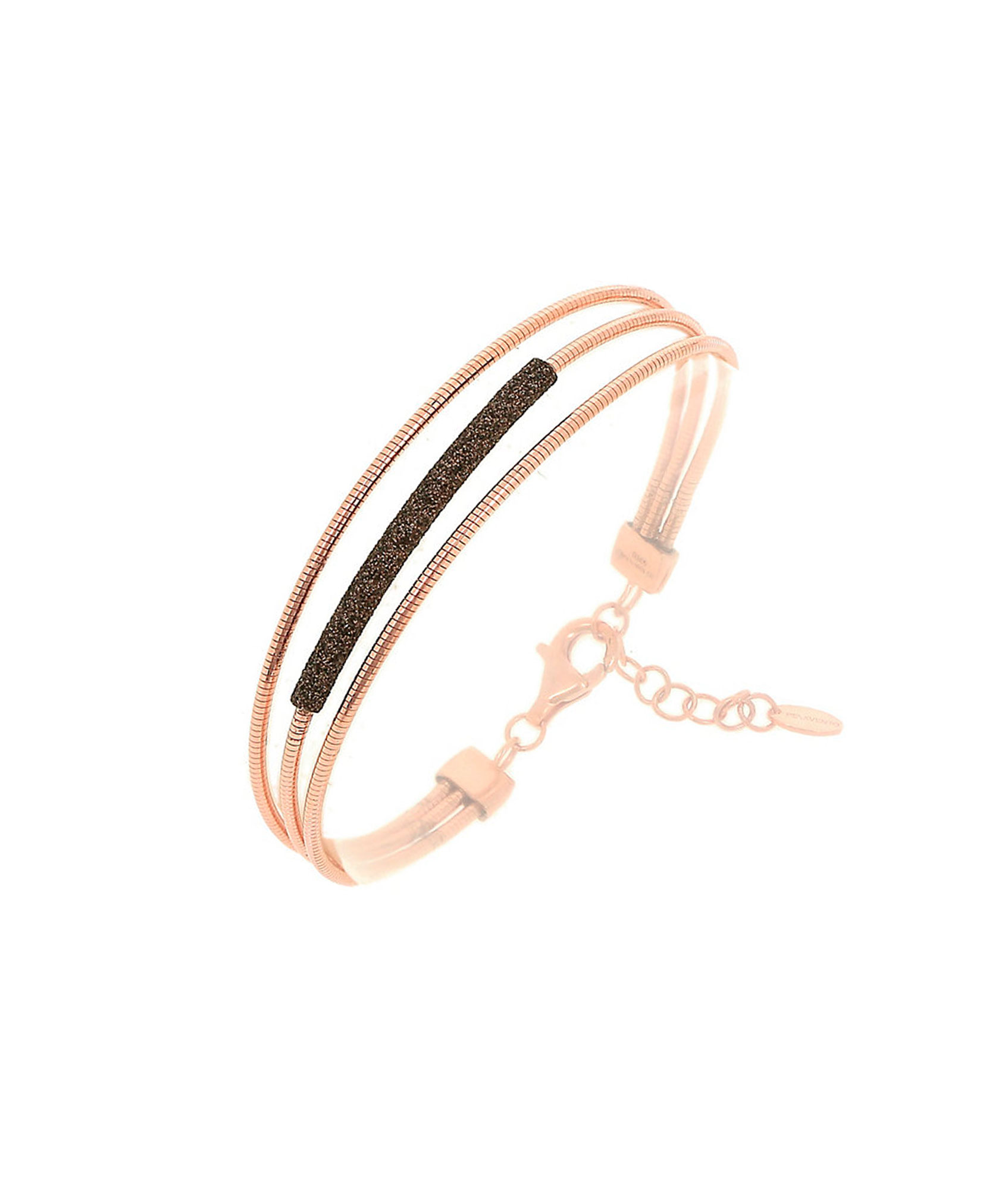 Pulsera DNA Rosa, Marrón #WDNAB206