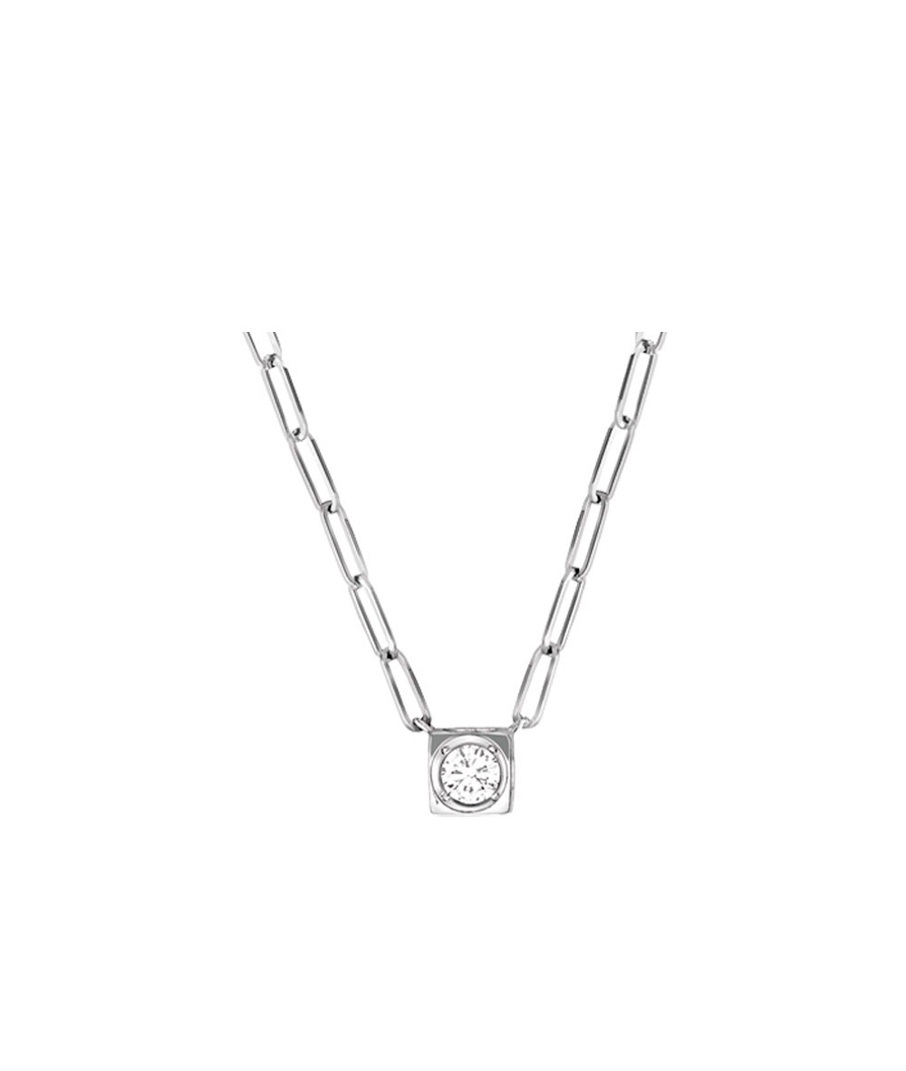 Collar Le Cube Oro blanco diamantes  - 608213