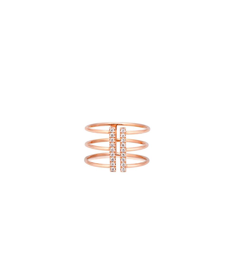 Anillo Extra Line En Oro y Diamantes - GR-212.3/T13