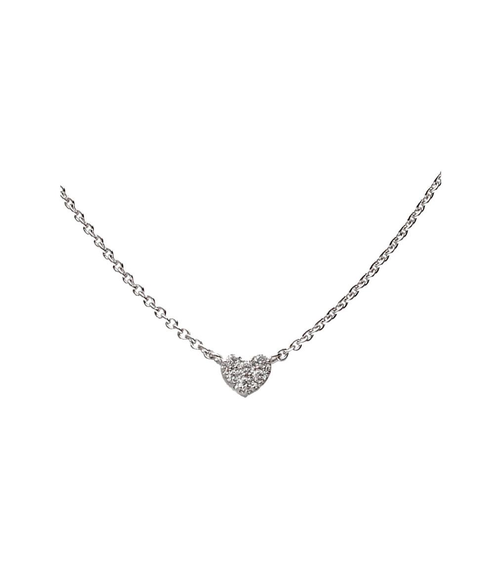Collar Corazón Oro blanco y Diamantes - 370-XN2396