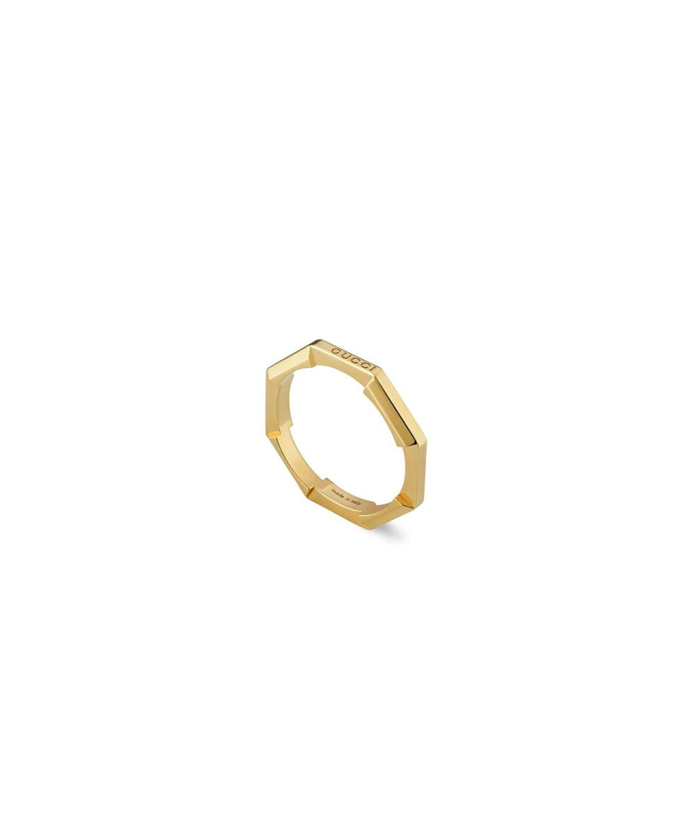 Anillo Gucci Link to Love con acabado espejo - YBC662194001011