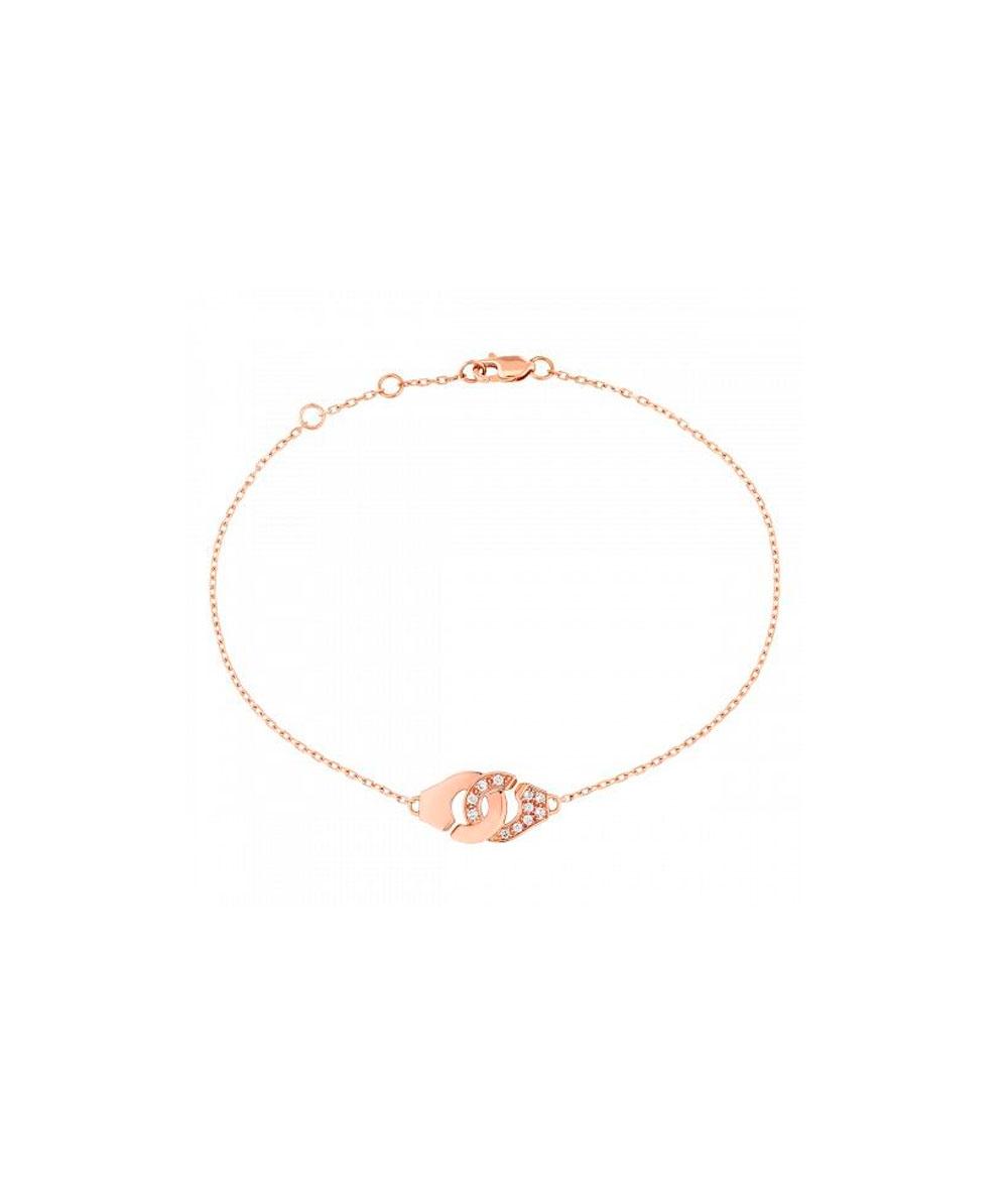 Pulsera Menottes dinh van R8 oro rosa y diamantes  - 301215