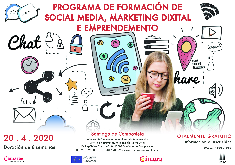 PROGRAMA DE FORMACIÓN DE SOCIAL MEDIA, MARKETING DIXITAL E EMPRENDEMENTO